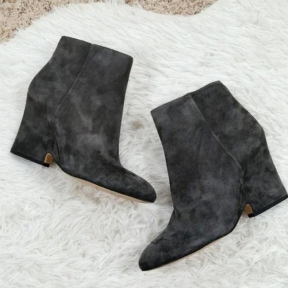7f5e4e006ca603 Sam Edelman Shoes - Sam Edelman Wilson Grey Suede Wedge Booties